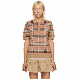 Burberry Beige Vintage Check Chatterton Polo 8017141