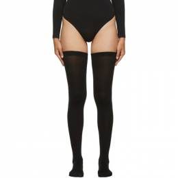 Wolford Black Fatal 80 Seamless Stay-Up Thigh-High Socks 28042