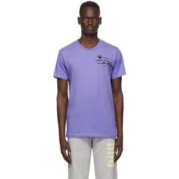 Helmut Lang Purple Helmut Land® Map Standard T-Shirt K06DM516