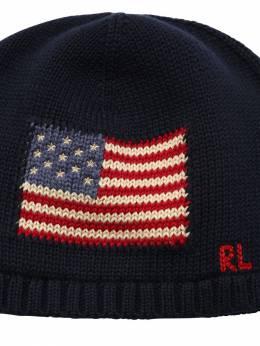 Intarsia Cotton Knit Beanie Hat Ralph Lauren 72IXEU097-MDAx0