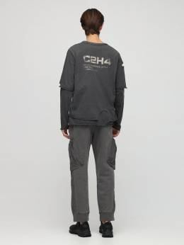 Distressed Double Layer L/s T-shirt C2H4 72IY01009-R1JBUEhJVEUgR1JBWQ2