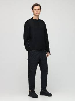 Distressed Wool Blend Knit Sweater C2H4 72IY01005-QkxBQ0s1