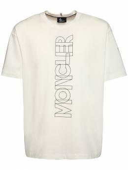 Футболка Из Хлопкового Джерси С Принтом Логотипа Moncler Grenoble 72IL72030-MDM00