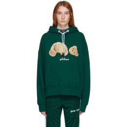 Palm Angels Green Bear Hoodie PMBB058E20FLE0035760