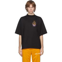 Palm Angels Black Small Broken Angels Boxy T-Shirt PMAA054E20JER0011084
