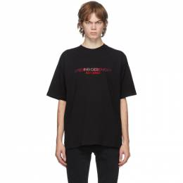Opening Ceremony Black Embroidered Logo T-Shirt YMAA001F20JER0061025