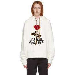 Palm Angels Off-White Red Rose Hoodie PMBB058E20FLE0080325