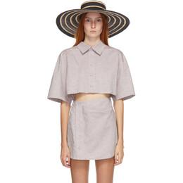 Maison Michel Black and Beige Mix Straw Hat 1117006001