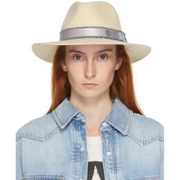 Maison Michel Beige Wool Rico Panama Hat 1061045001