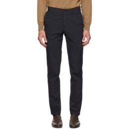 Dunhill Navy Poplin Chino Trousers DUCM009F316