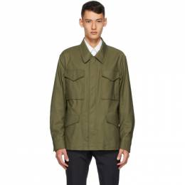 Dunhill Green Twill Field Jacket DU20FH003B1