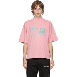 Palm Angels Pink GD Exotic Club Boxy T-Shirt PMAA054F20JER0033040