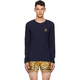 Versace Underwear Navy Medusa Long Sleeve T-Shirt AUU01007 A232741