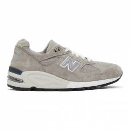 New Balance Grey Made In US 990v2 Sneakers M990N2