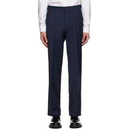 Hugo Navy Wool Trousers 50433815