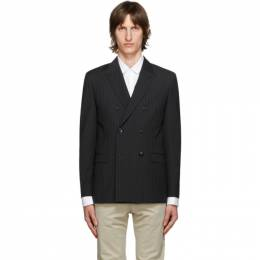 Hugo Black Wool Pinstripe Blazer 50432349