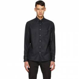 Dunhill Black Wool Flannel Shirt DU20FGLB1R1