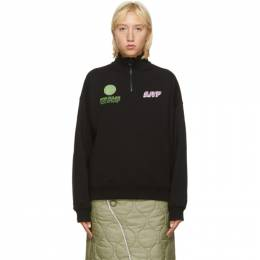 Sjyp Black High Neck Zip-Up Sweatshirt PW2A7WTS139W