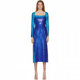 Saks Potts SSENSE Exclusive Blue Shimmer Andy Dress ANDY DRESS
