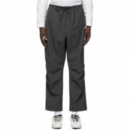 Y-3 Grey Wool Winter Cargo Pants GK4593