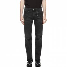 1017 Alyx 9Sm Black Classic Buckle Jeans AAMPA0085FA01.F20