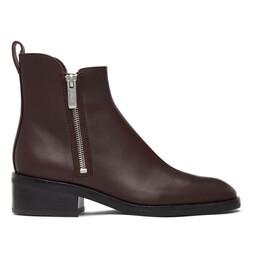 3.1 Phillip Lim Burgundy Alexa Ankle Boots SSP0-T599JAR