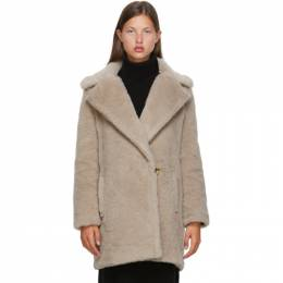 Max Mara Beige Alpaca and Wool Fiocco Coat 10162703000 10501