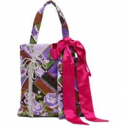 Collina Strada SSENSE Exclusive Purple and Green Meme Bag XX9003