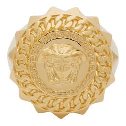 Versace Gold Medusa Signet Ring DG57505 DJMT
