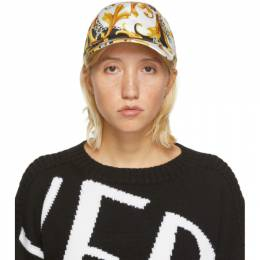 Versace Yellow and White Acanthus Print Cap ICAP004 A235730