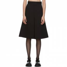 Shushu/Tong Black Single Pleat Skirt aw20sk02