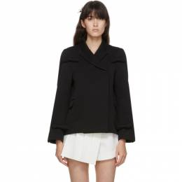 Shushu/Tong Black Wool Bow Blazer aw20co03
