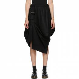 Comme Des Garcons Comme Des Garcons Black Wool Harness Pull Skirt RF-S009-051