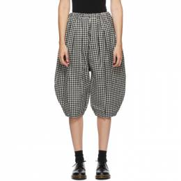 Comme Des Garcons Comme Des Garcons Black and White Wool Gingham Trousers RF-P005-051