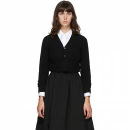 Comme Des Garcons Comme Des Garcons Black Wool Crop Cardigan RF-N503-051