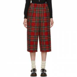 Comme Des Garcons Girl Red Tartan Trousers NF-P008-051