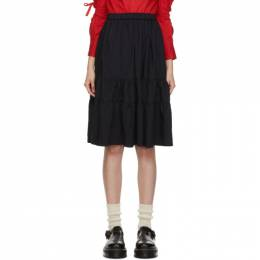 Comme Des Garcons Girl Black Tiered Ruffle Skirt NF-S007-051