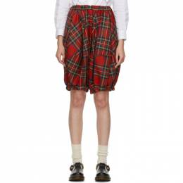 Comme Des Garcons Girl Red Tartan Cropped Trousers NF-P004-051