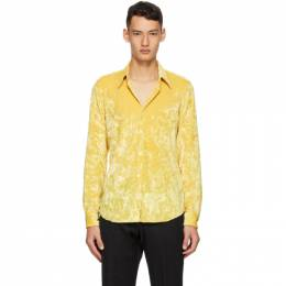 Dries Van Noten Yellow Velvet Shirt 20740-1316-200