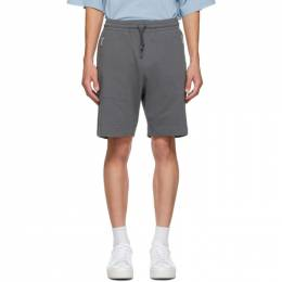 Dries Van Noten Grey Cotton Zip Shorts 21135-1604-802