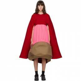 Comme Des Garcons Red and Pink Sculptural Dress GF-0101-051