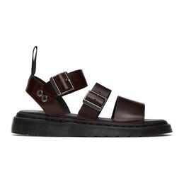 Dr. Martens Burgundy Gryphon Sandals R15695230