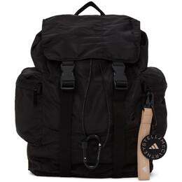 Adidas by Stella McCartney Black Satin Backpack FS6639
