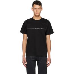 Mugler SSENSE Exclusive Black Logo T-Shirt 20W3TS0054660