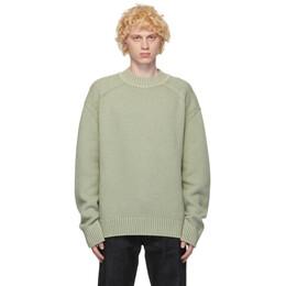 Jil Sander Green and Beige Wool Sweater JPUR752511_MRY20158