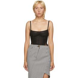 Mugler Black Tulle Bodysuit 20W1BO0126572