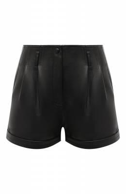 Кожаные шорты Saint Laurent 630200/YC2ZZ