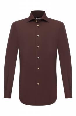 Хлопковая сорочка Kiton UCIH0740908