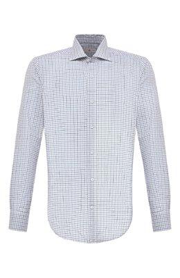 Рубашка из хлопка и шерсти Luciano Barbera 155429/71114