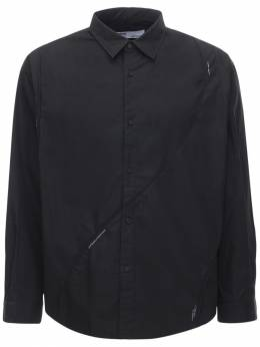 Cotton Intervein Panelled Shirt C2H4 72IY01003-QkxBQ0s1